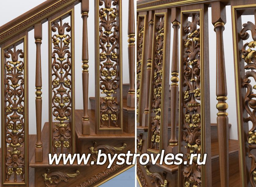 Экорем- деревянные балясины для лестниц